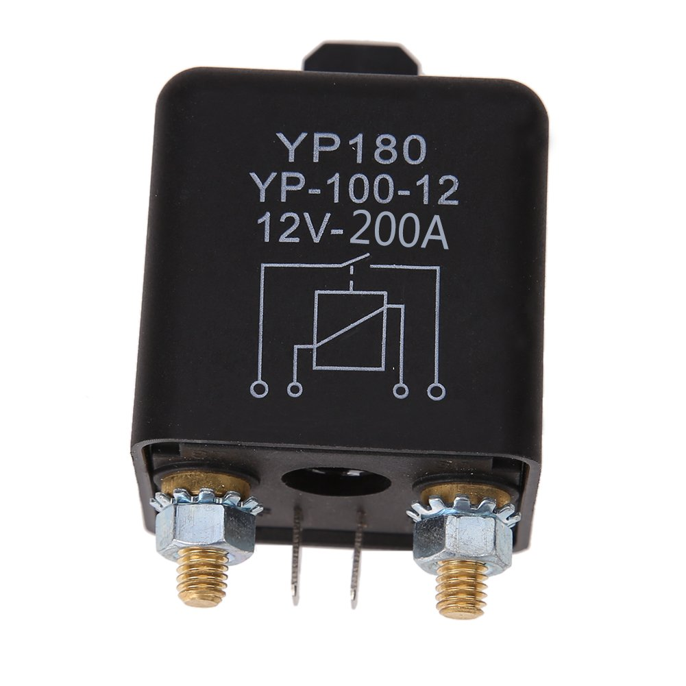 WinnerEco Car Truck Motor Automotive Relay 24V/12V 200A/100A Continuous Type Automotive (200A)