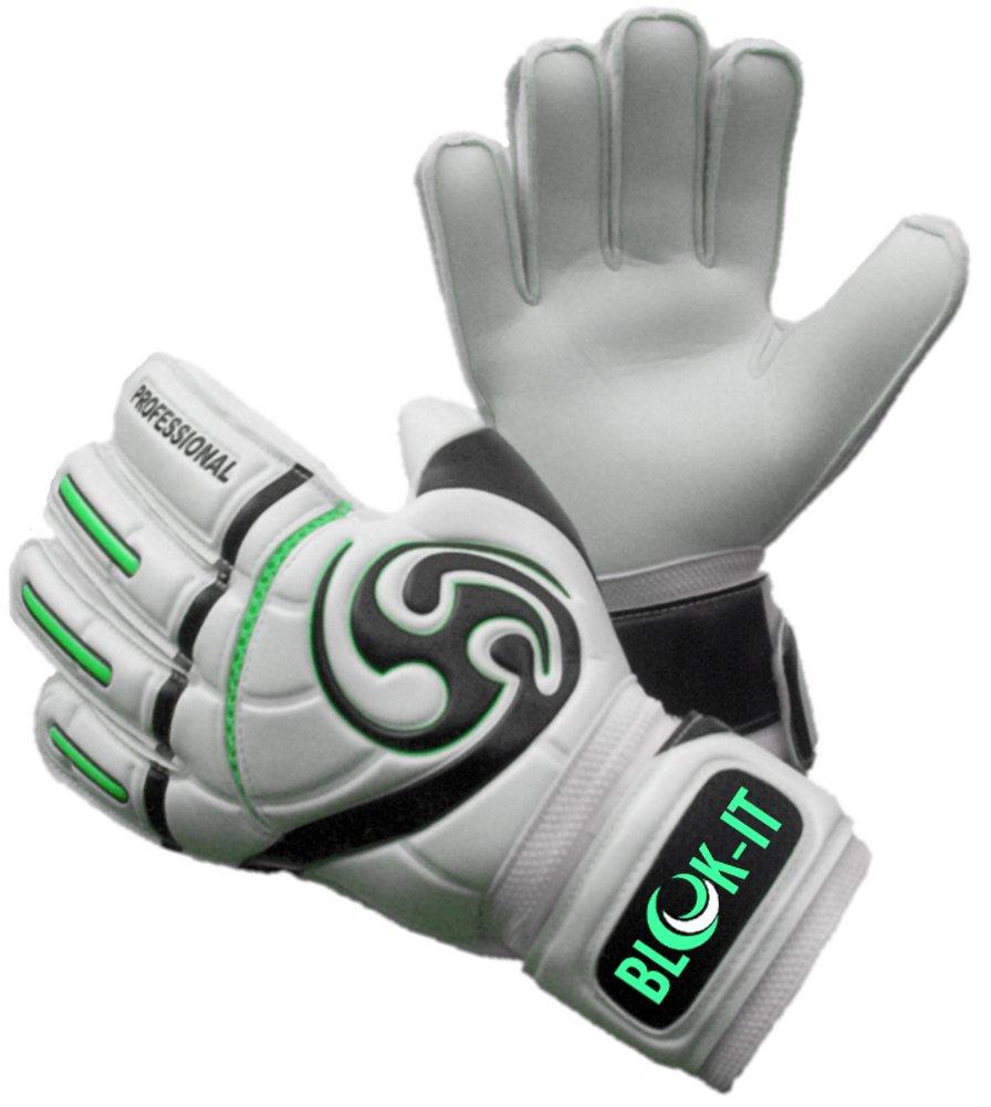 Blok-iT ゴールキーパーグローブ 強固な守備に役立つ高品質のゴールキーパーグローブ 特別なパッドで怪我の危険性を減らしつつ、安全で快適な装着感 B0171V6TM8 サイズ9 =大人 M|緑 緑 サイズ9 =大人 M