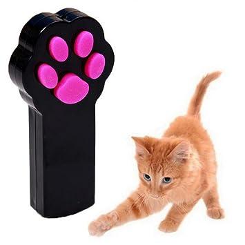 UEETEK Cat Juguete Interactivo LED Luz Beam Puntero Juguete del animal doméstico Herramienta de rasguño de ejercicio (Negro): Amazon.es: Productos para ...