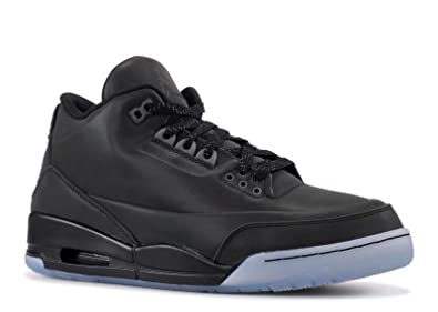 37c9cc9eb363 Jordan Air 5Lab3 Men s Shoes Black Black-Clear 631603-010 (8 D