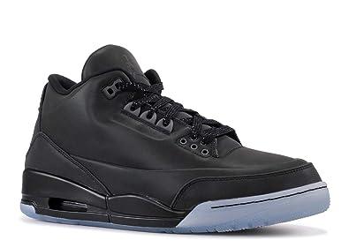 4d3600345609 Jordan Air 5Lab3 Men s Shoes Black Black-Clear 631603-010 (8 D