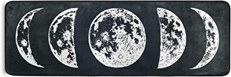 Alaza Moon Phases Runner Area Rug Non Slip Floor Mat For Hallway Entryway Living Room Bedroom Dorm Home Decor 72x24 Inches Kitchen Dining