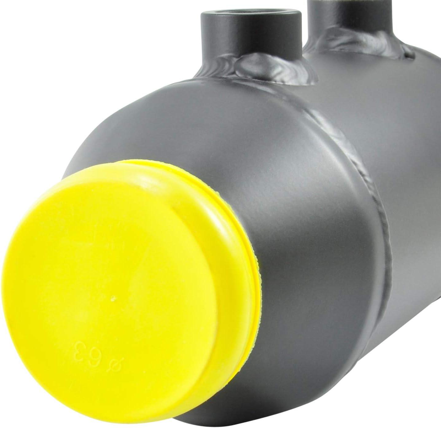 Aluminio 290 mm x 100 mm Redondo Refrigerador de Aire de Carga refrigerado por Agua