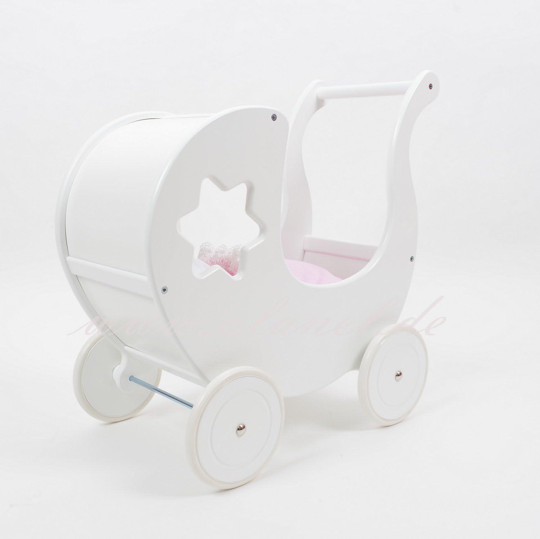 ALANEL Puppenwagen Doll Pram Scoter MIT BETW/ÄSCHE Carrozzina Della bambola Dolls pram Grey