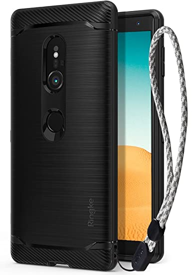 hot sale online ab596 91779 Ringke Onyx Compatible with Xperia XZ2 Case Brushed Metal Design [Flexible  & Slim] Dynamic Stroked Line Pattern Durable Anti Slip Impact Shock ...
