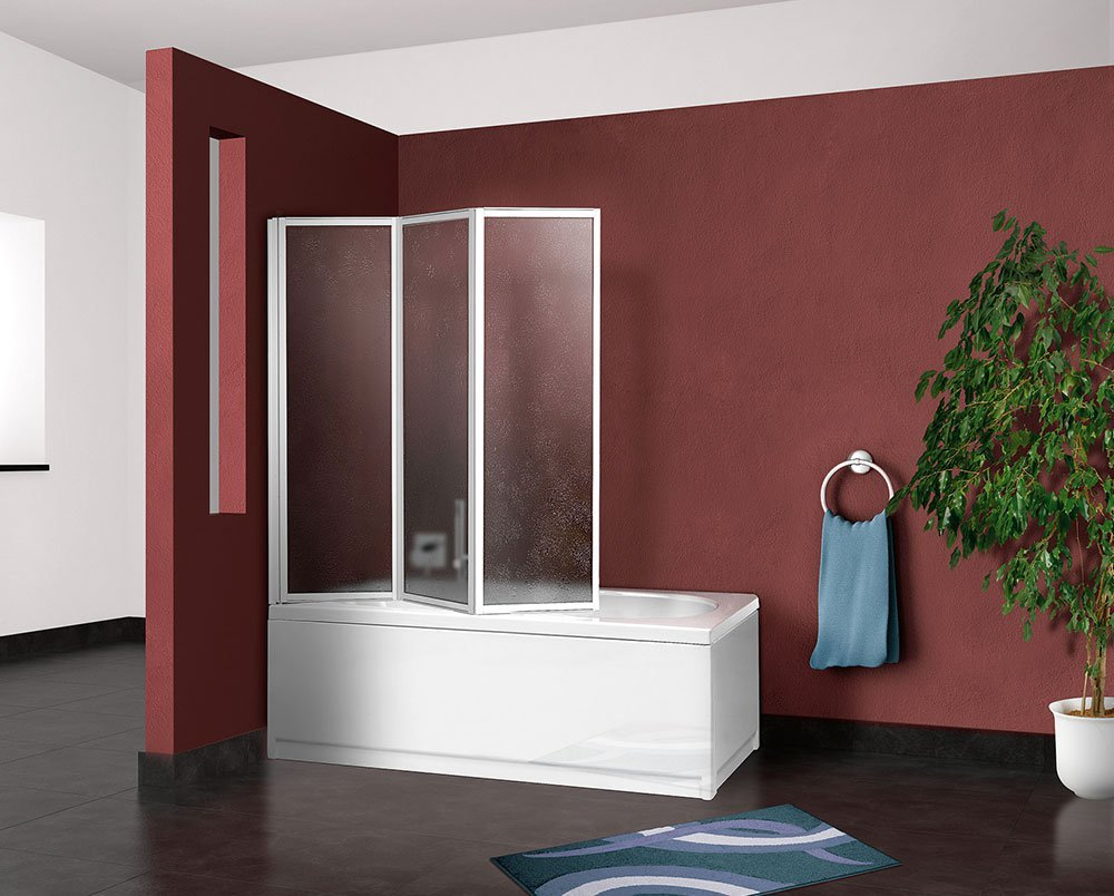 Pareti Per Doccia In Acrilico : Box parete vasca doccia sopravasca cm pannello pieghevole