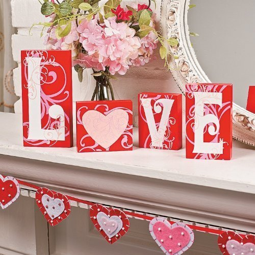 KNLSTORE Decoration Scrolls Romantic Valentines