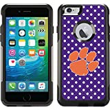 Clemson - Mini Polka Dots design on Black OtterBox Commuter Series Case for iPhone 6 Plus and iPhone 6s Plus