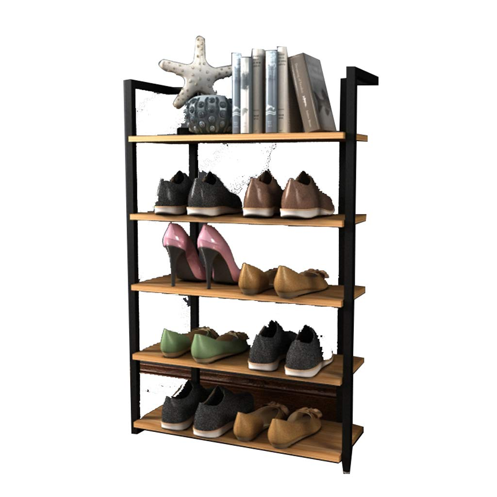 Shoe Rack, Multi-Layer Fashion Space-Saving Dormitory Dust-Proof Shoe Cabinet, Wrought Iron Shoe Rack (Color : White, Size : 64CM) by 62MJ
