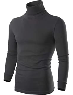 ainr Men Casual Blouse Turtle Neck Slim Knitted Pullover Sweater