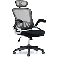 Yalla Office Ergonomic Office Chair Ergonomic Mesh with Wheels, Lumbar Back Support, Adjustable Headrest with Flip-up…
