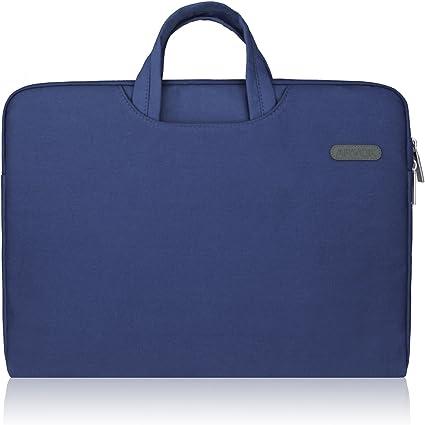 13-13.3 Pouce Sac /à Main//Serviette//Sacoche en Toile pour Apple iPad Pro//PC Portable//MacBook Pro//MacBook Air Ordinateur Portable Bleu