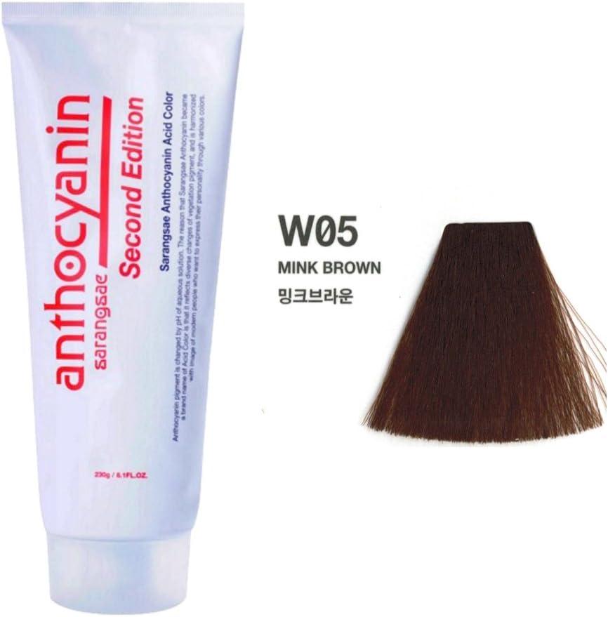 Sarangsae La proteína Protección de Plantas y antocianina manicura color de pelo Segunda edición 230G W05 Mink semi tinte permanente tentador Uv para ...