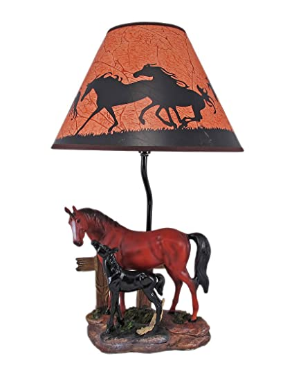 Resin table lamps brown mare and foal horse table lamp wshade 12 x resin table lamps brown mare and foal horse table lamp wshade 12 x 19 aloadofball Image collections
