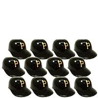 MLB Mini Batting Helmet Ice Cream Sundae/ Snack Bowls, Pirates - 12 Pack