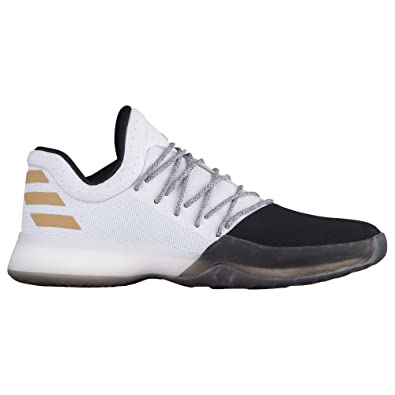 adidas Harden Vol.1 Shoe Men's Basketball 8 Running White-Black-Gold  Metallic