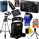 Canon PowerShot ELPH 190 IS Wi-Fi Digital Camera with 10x Zoom & HD video (Black) + Battery & AC/DC Charger + 10pc 32GB Deluxe Accessory Kit w/HeroFiber Cloth