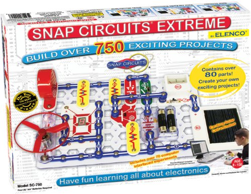 Snap Circuits Extreme SC-750 Electronics Exploration Kit | Over 750 STEM Projects | 4-Color Project Manual | 80+ Snap Modules | Unlimited Fun -