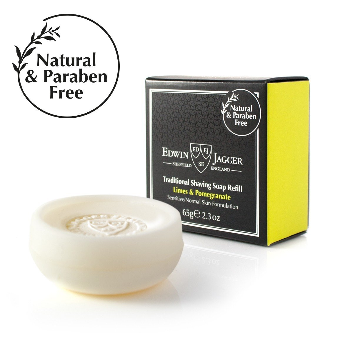 Edwin Jagger Lime Pomegranate Shaving Soap - DE Wet Shaving Double Edge Safety Razor Shave