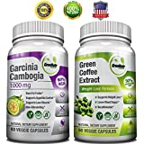 GreeNatr Weight Loss Bundle with Pure Green Coffee Bean Extract and Pure Garcinia Cambogia Extract, 120 Capsules