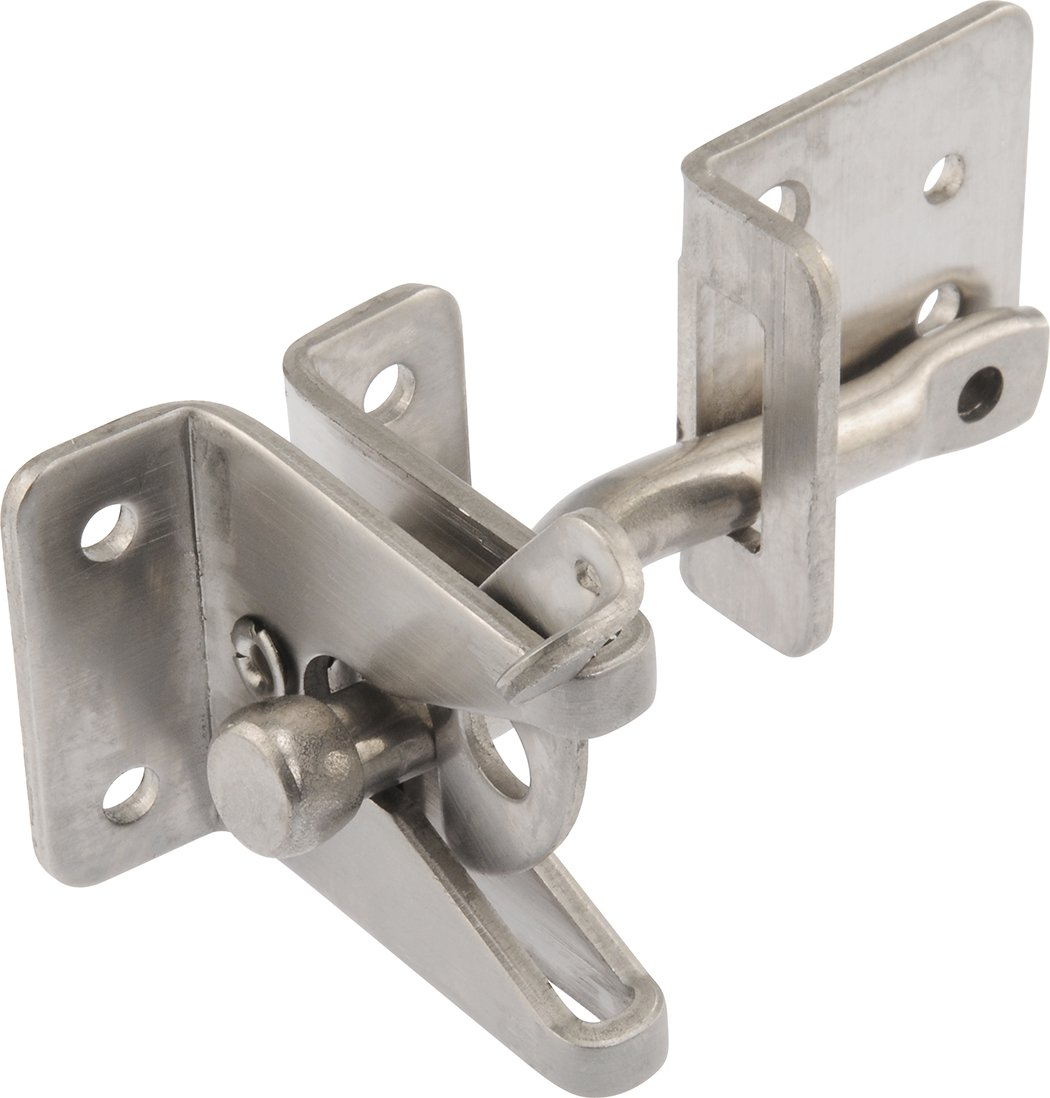 The Hillman Group 853341 Self-Adjusting Gate Latch - Stainless Steel 1-Pack