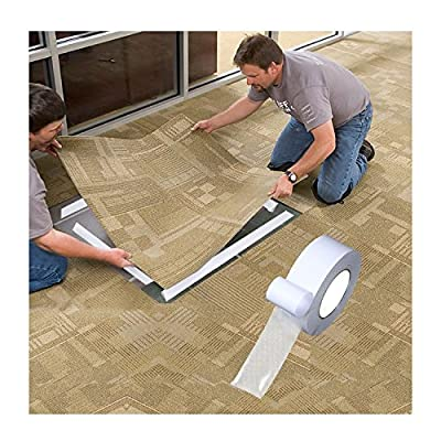 2.5 Inches 60ft Double Sided Carpet Tape, Indoor/Outdoor Non-Slip Adhesive Carpet Tape For Rugs, Mats, Pads, Runners