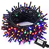 Brizled Mini LED Christmas Lights, 66ft 200 LEDs Fairy Twinkle String Lights for Party, Wedding, Chirstmas Tree, Patio, Home and Garden Decoration with Power Supply Adapter(Multi-Color)