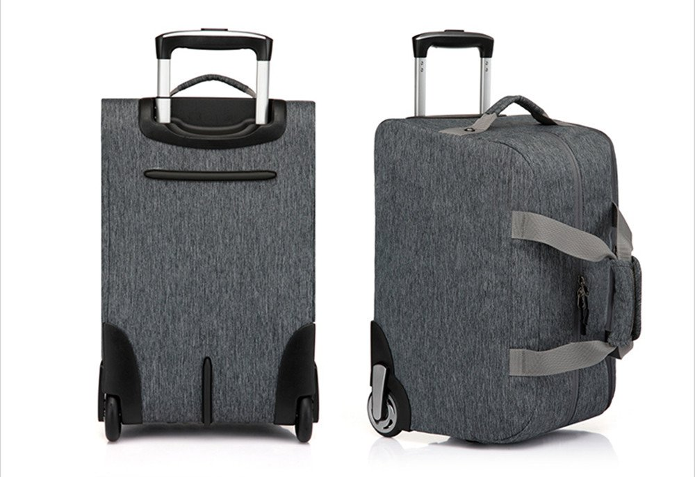 YESO Trolley Travel Bag Hand Luggage 20inch 32L Rolling Duffle Bags  Waterproof Oxford Suitcase On Wheels Carry On Luggage Unisex (Dark-grey)   Amazon.co.uk  ... c473c6090b39c