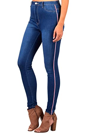 8ae28cf4f60f L.B FASHION Mid-Rise Waisted Women Jeans Plus Size Ripped Stretch Skinny  Colored Pants Black Blue Olive Khaki Grey red