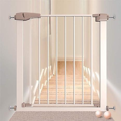 La puerta de seguridad para bebé de ajuste a presión/la puerta de la puerta/la puerta de la escalera, fácil apertura, cierre automático, se adapta a puertas/pasillos/escaleras entre , vienen c: Amazon.es: Bebé