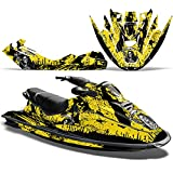 Bombardier SeaDoo GTX 1996-1999 Decal Graphic Kit Jet Ski Wrap Jetski Sea DooREAPER YELLOW