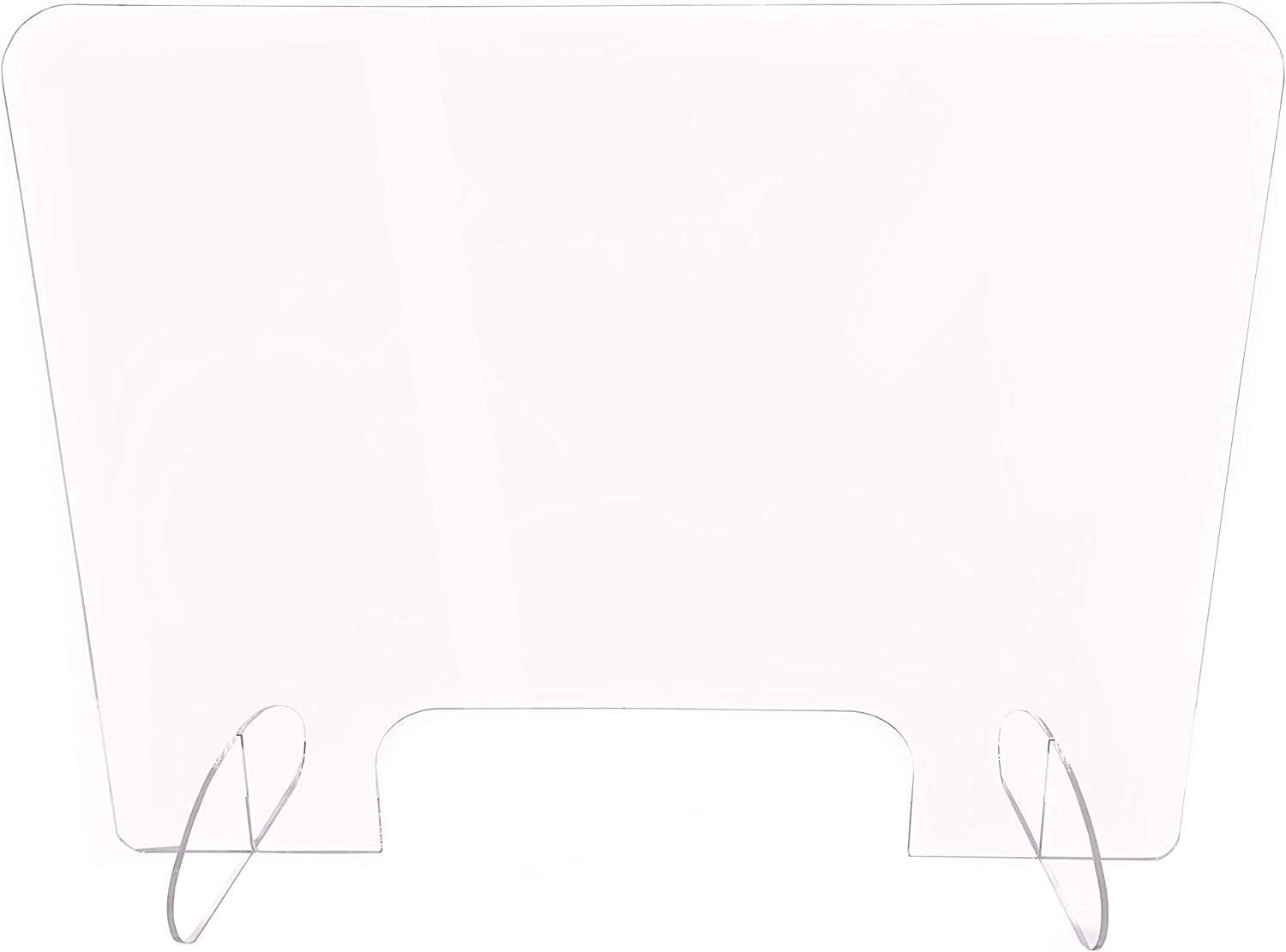 """Sneeze Guard For Counter, Clear Plastic Acrylic Plexiglass Shield, Distance Barrier, For Table Reception, Office Cubicle. Cashier Transaction Window, 32"""" X 24"""","""