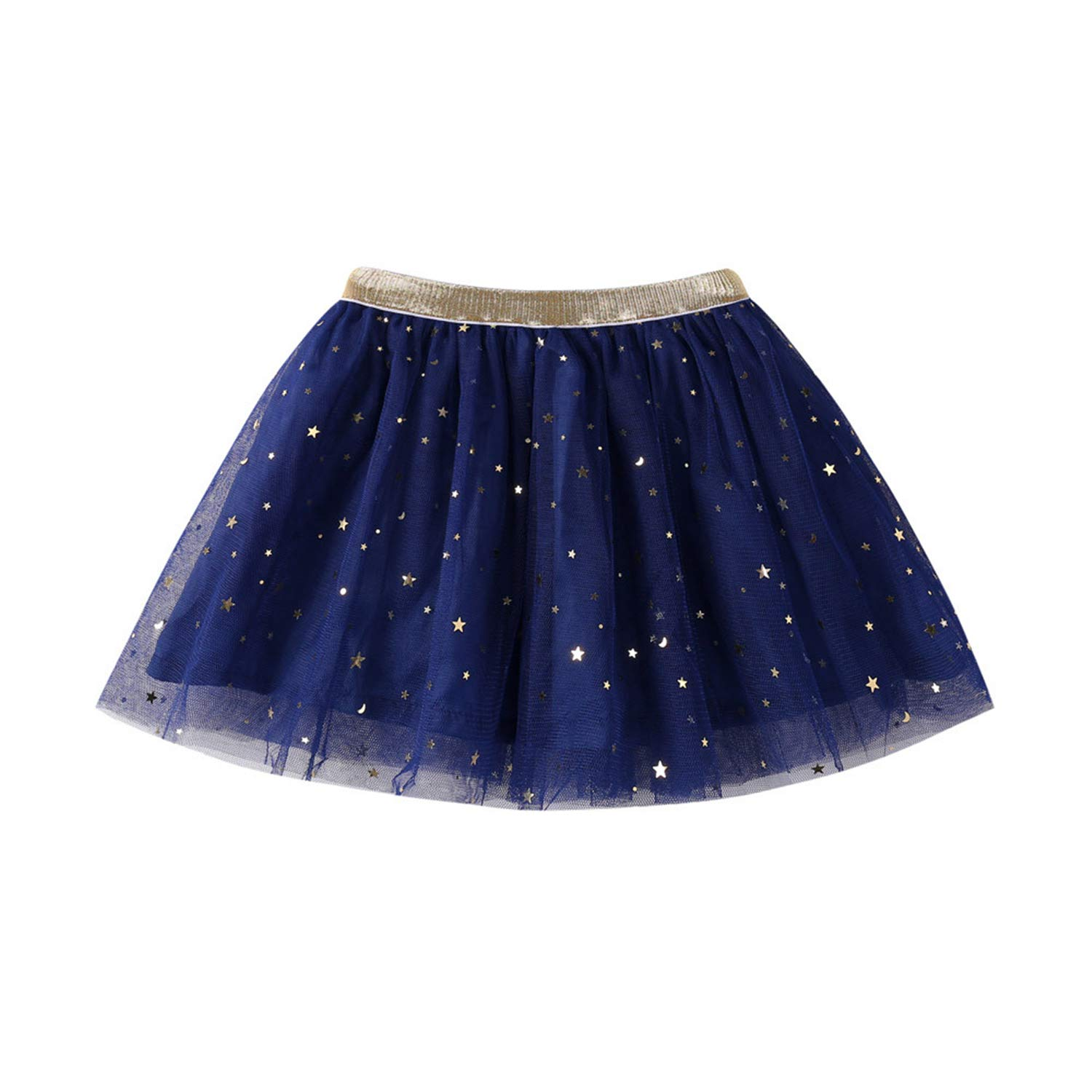 Beverly Stewart Baby Kid Girls Princess Stars Sequins Party Dance Tutu Summer Solid Sweet Skirts