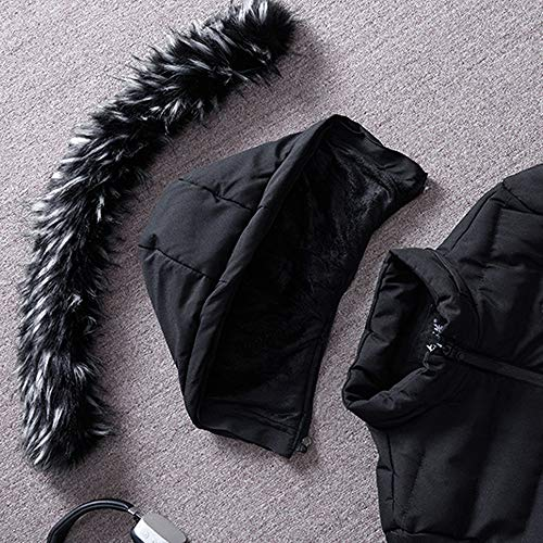 Medium Con Giacca Casuale Warm Uomo Winter Coat Sanfashion Nero Hooded Da Cappuccio Jacket dXqpwqg