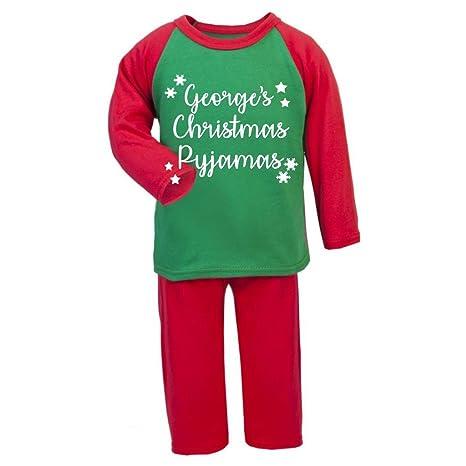 Personalizado Navidad regalos Navidad, infantil con forma de pijama infantil de Navidad pijama PJ de