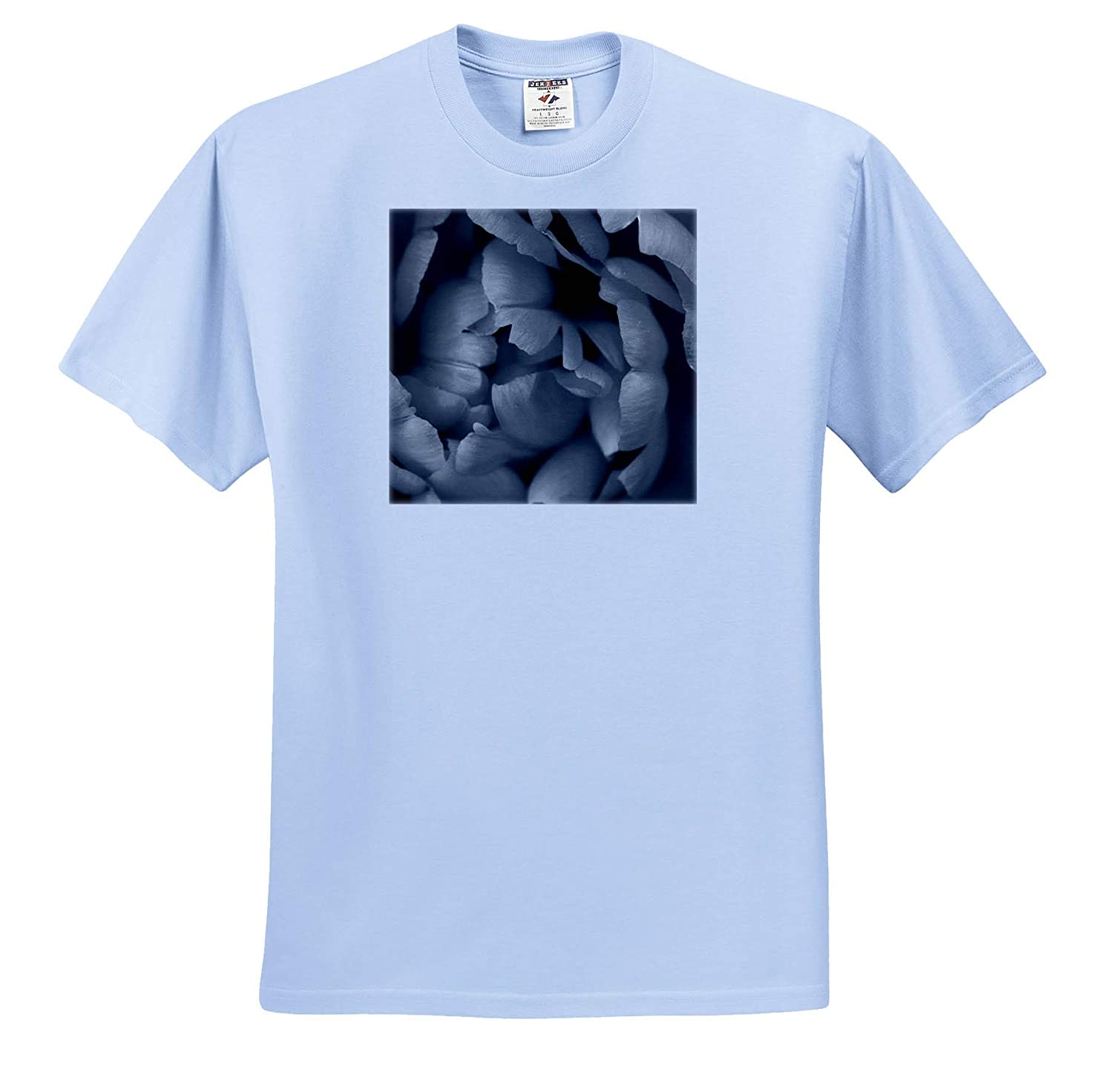 Black and White Macro Photograph of Tulip Petals 3dRose Stamp City Flowers - Adult T-Shirt XL ts/_309950