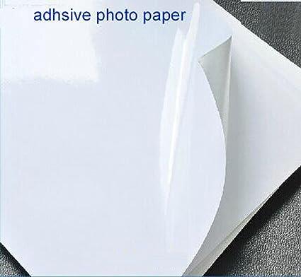 20 hojas de papel A3 autoadhesivo papel fotográfico satinado ...