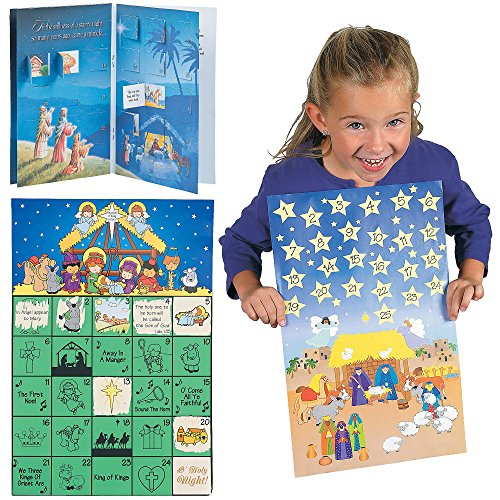 Different kinds; Scratch N Reveal Advent Calendars, Giant Advent Calendar Sticker Scenes & Advent Calendars with Story | Fun Christmas Story Décor Stickers Gift ()