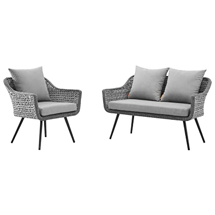 Amazon.com : Modern Outdoor Patio Garden Lounge Sofa and ...