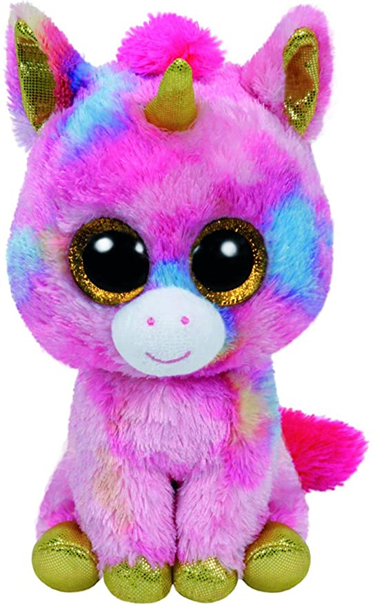Amazon.com  Ty Beanie Boos - Fantasia The Unicorn (Glitter Eyes ... f10da0f671d