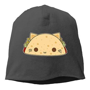 jingqi Gorras Tejidas Unisex, Gorro de Taco Gatos para Hombres y ...