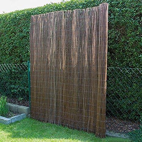 Pegane - Valla de cañizo para jardín, marrón oscuro,dimensiones: 200 x 200 cm: Amazon.es: Hogar