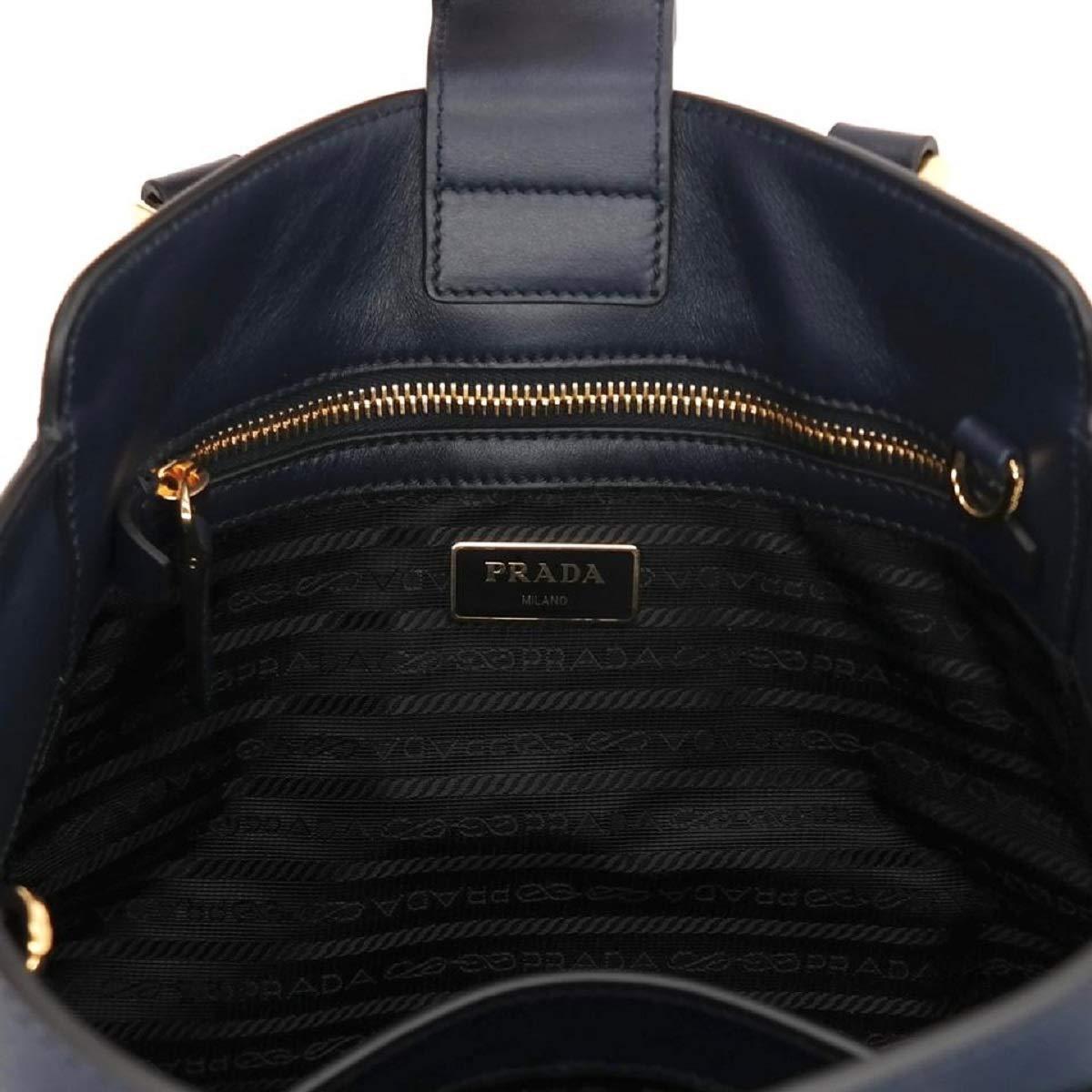 7e31a96a48d7 Prada Women's Navy Blue Saffiano Lux Leather Handbag 1BA118: Handbags:  Amazon.com