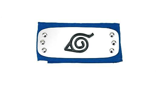 Cinta para la cabeza de ninja del anime Naruto, konoha, azul