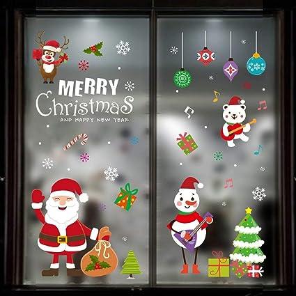 Hosof Christmas Window Clings  C2 A8cchristmas Window Sticker Clings  C2 A8c Hello Santa Claustree