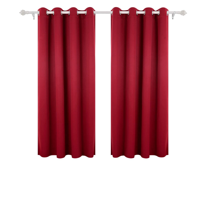 Deconovo Lot de 2 Rideaux Occultants pour Salon Design Moderne Rideaux de Porte Fenêtre à Oeillets 135x240cm Bleu Marine