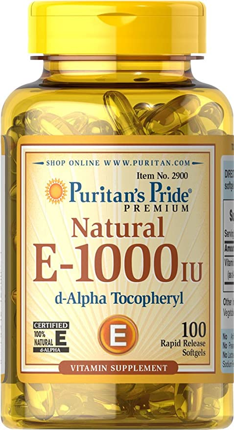 Vitamina E Natural 670 mg (1000IU)100 Perlas / Una al día, para
