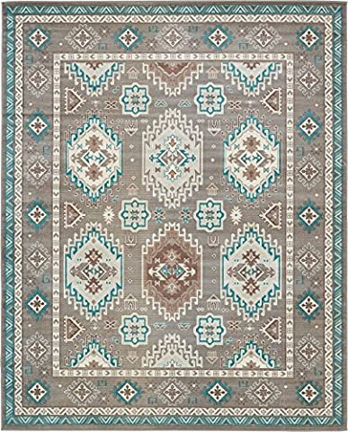 A2Z Rug Traditional Caen Collection Rugs Gray 8' x 10' -Feet Area rug