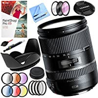Beach Camera Tamron 28-300mm F/3.5-6.3 Di VC PZD Lens for Nikon with 67mm Filter Sets Plus Accessories Bundle