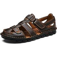 Yaer Hommes Cuir des Sandales Chaussures de Plage pour Hommes Taille EU38-EU48(2 Couleur)